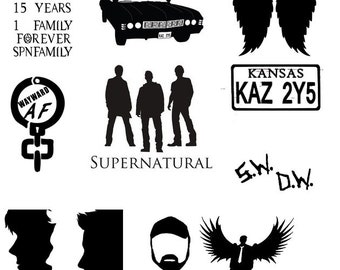 Any Supernatural Themed Decal