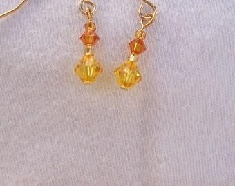 Stunning Topaz Swarovski Crystal Necklace & Earring Set *Twilight* Edward set Twilightpated Jewelry