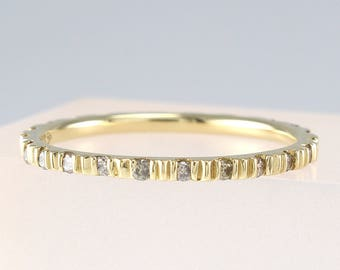 Thin Diamond Eternity Band, Diamond Wedding Band, Diamond Eternity Band, Engagement Ring,Cognac Diamond Ring, Stackable Ring