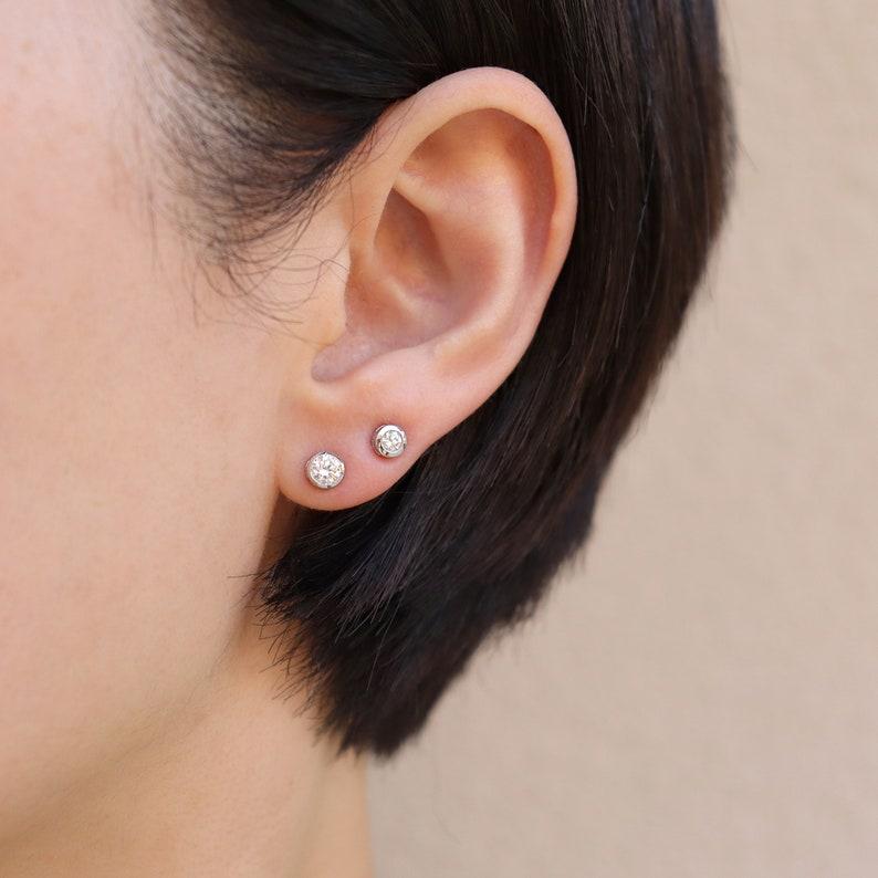 Diamond Stud Earrings Diamond Earrings Diamond Solitaire image 0