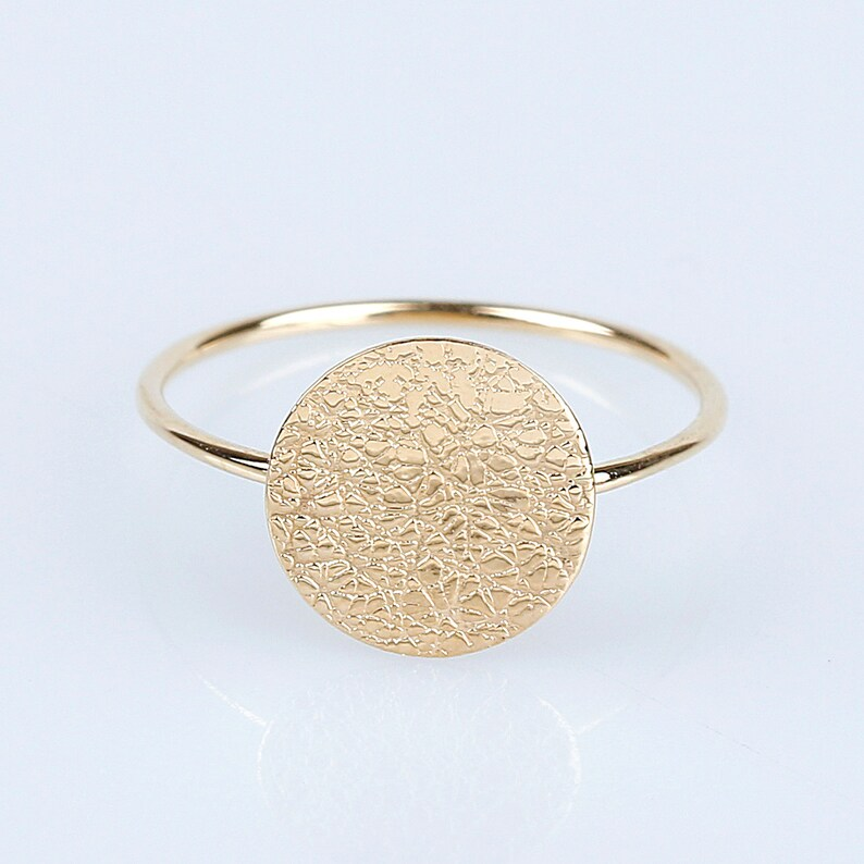 fc26a1ee3d560 14K Gold Circle Ring, 14K Solid Gold Simple Ring, 14K Gold Coin Ring, 14K  Geometric Ring, 14K gold Dot Ring, 14K Gold Minimalistic Ring