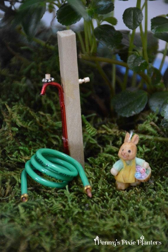 Charmant Miniature Garden Hose With Spigot Fairy Garden Water Hose | Etsy