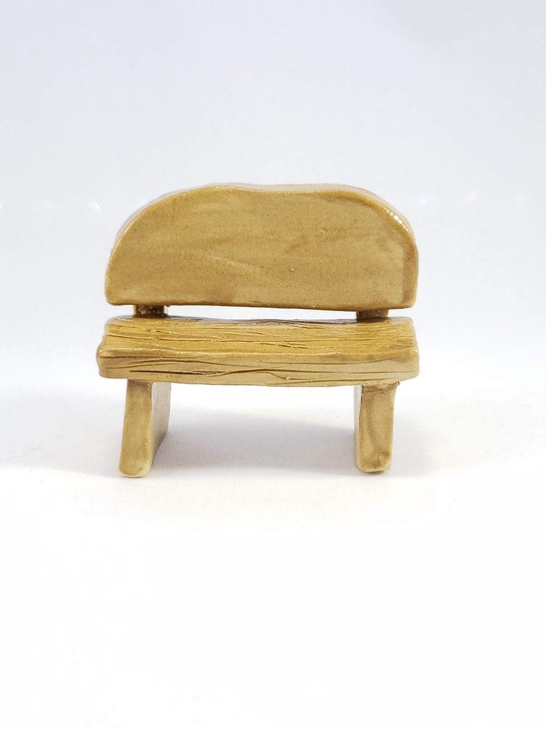 Pleasing Miniature Ceramic Bench Fairy Garden Bench Miniature Bench Fairy Bench Fairy Garden Furniture Small Bench Ceramic Bench Spiritservingveterans Wood Chair Design Ideas Spiritservingveteransorg