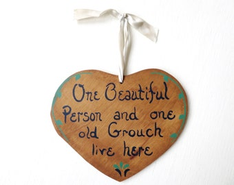 Inspirational Quotes Lawson Falle Ltd Wooden Wall Hanging Vintage 70s Memorabilia Hope Peace Joy Love Wall Plaques Set is 4