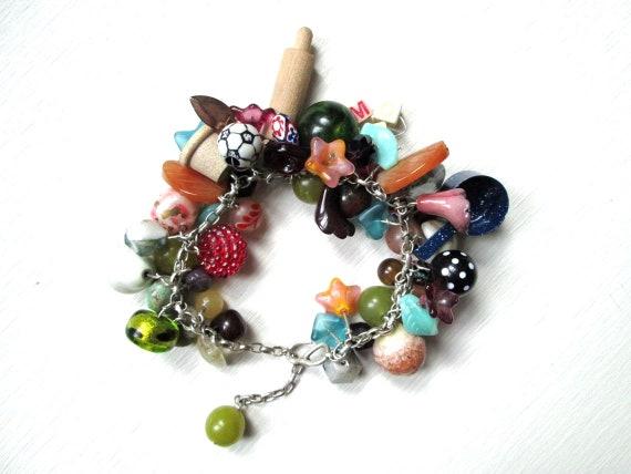 chunky shell bracelet personalised gift bracelet stack gift for her Mother/'s Day gift Chunky Silver Shell Bracelet