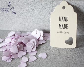 5 Tag set Hand Made With Love