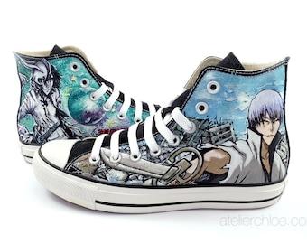 20ee59c7575 Custom painted shoes – Painted vans – Painted converse –Shoes anime – Manga  art