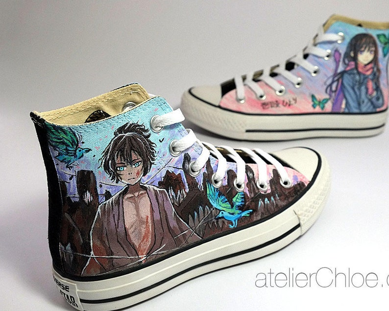 e9a470b3963e Custom Anime Converse Manga Shoes Hand Painted Shoes Fan