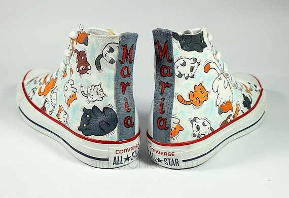 Custom Supernatural Converse All Star Chuck Taylor Low Top Sneakers SIze US Mens 5,5 EU 38