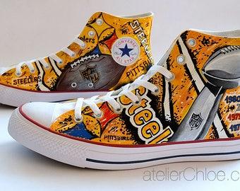 Custom  Sports Team Shoes Football Fan Gift Football Fanatic Basketball Personalized Converse  Shoes Baseball Fan Gift Painted Converse