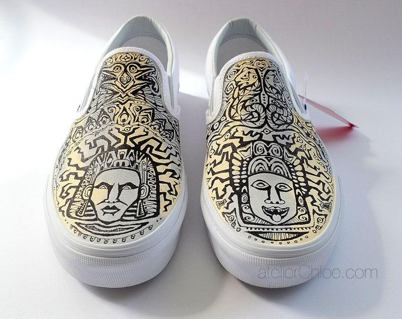 c9d89ad404 Aztec Vans Shoes Boho Shoes Ethnic Vans Tribal Shoes Ombre