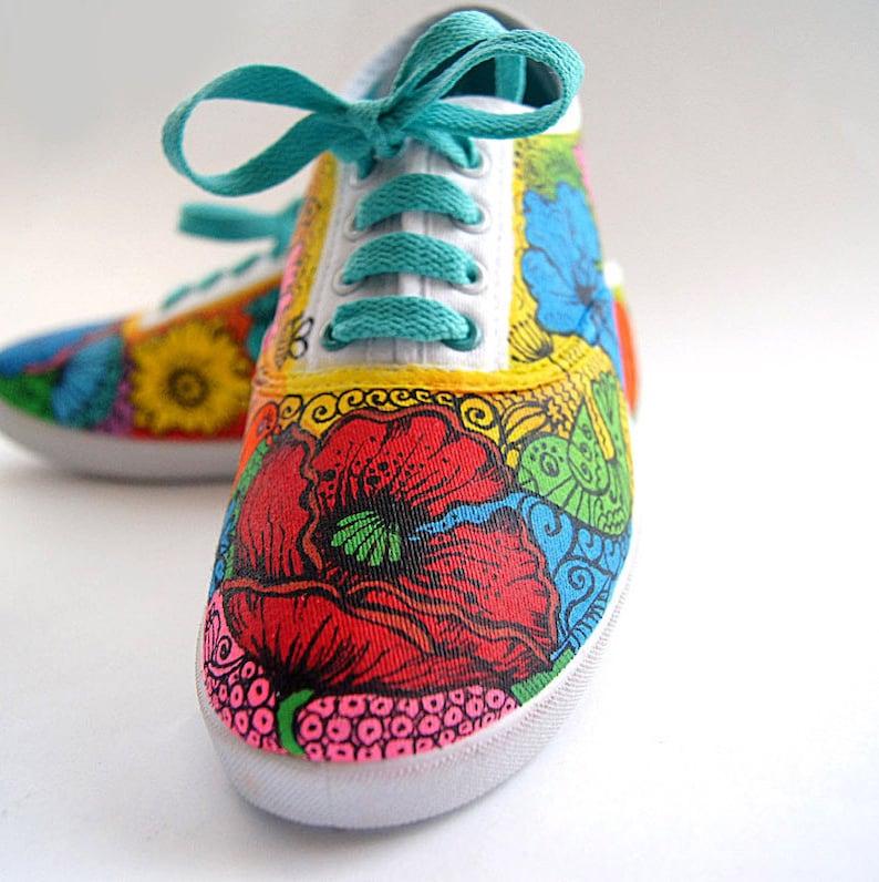 8f547ef345 Vans Shoes Colored Sneakers Painted Vans Summer Womens