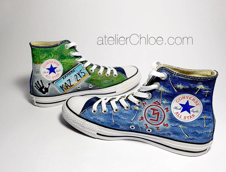 956b4175b37 Custom Painted Movies Shoes Painted Converse Custom Vans Character Shoes  Persona... Custom Painted Movies Shoes Painted Converse Custom Vans  Character Shoes ...