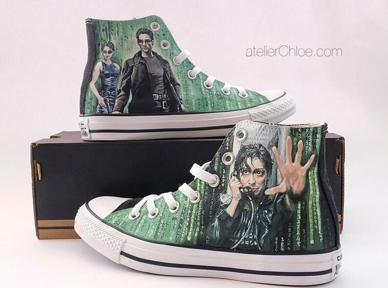 006ba3e4d3b Fan Art Custom Converse Sci Fi Fantasy Shoes Hand Painted