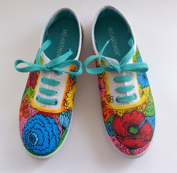Vans Shoes Colored Sneakers Painted Vans Summer Womens Shoes  462e05db2