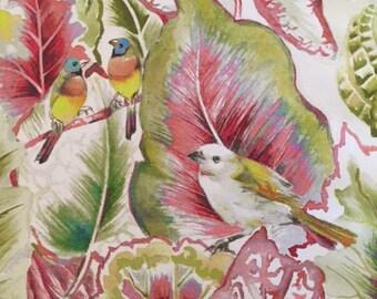 Lovebirds Blossom Fabric Lampshade