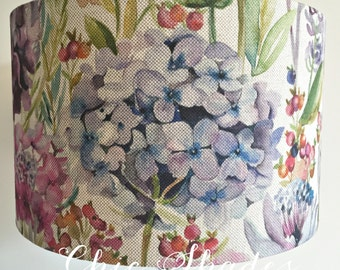 Country Hydrangea Fabric Lampshade