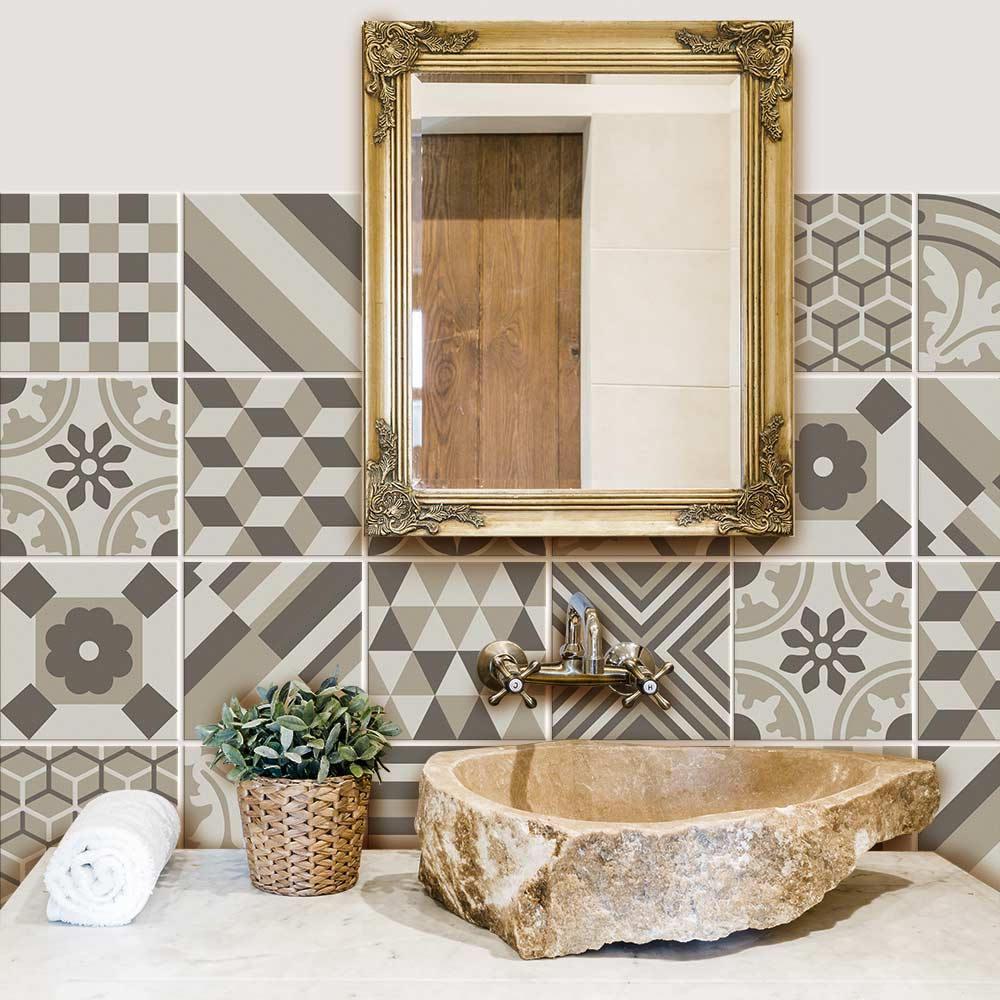 PS00160 Adesivi murali in pvc per piastrelle per bagno e cucina Stickers design