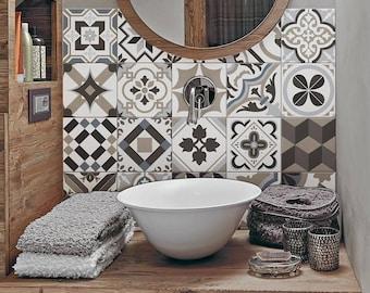 "PS00089 ""Braga"" Pvc tiles for bathroom tiles and kitchen Ceramic decorations various sizes"