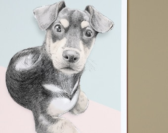 Illustrated animal portrait