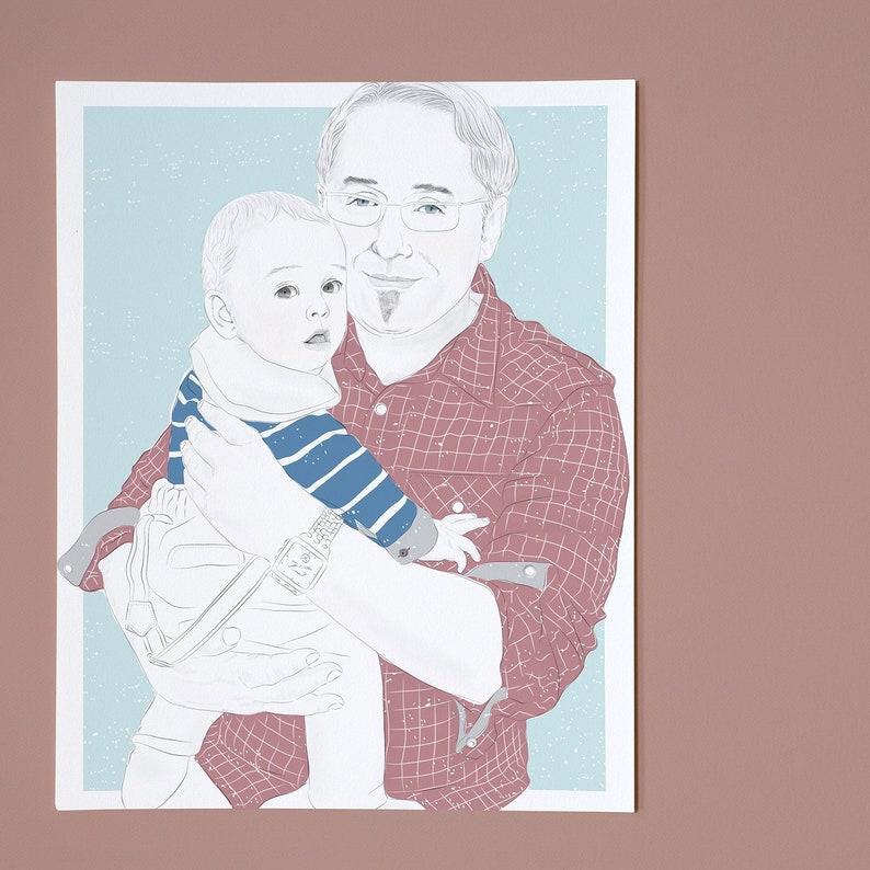 personalized portrait  father & child image 1