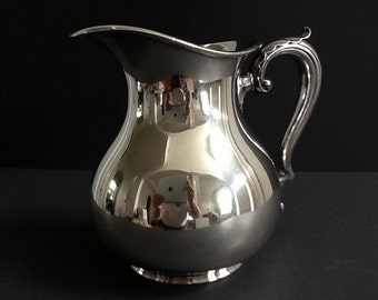 Bannana or Shadow Leaf Pattern Wallace Restaurant Ware Syrup Pitcher Used//EUC