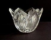 Vintage Waterford Marquis Greenbriar Crystal Scalloped Bowl, 7 quot Crystal Bowl, Cut Fan Design, Crystal Giftware