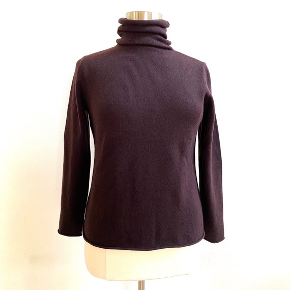 Eileen Fisher Brown Cashmere Sweater, Women's Size