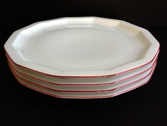 Vintage Rosenthal Samos Dinner Plate Set 4 Studio Line White Etsy