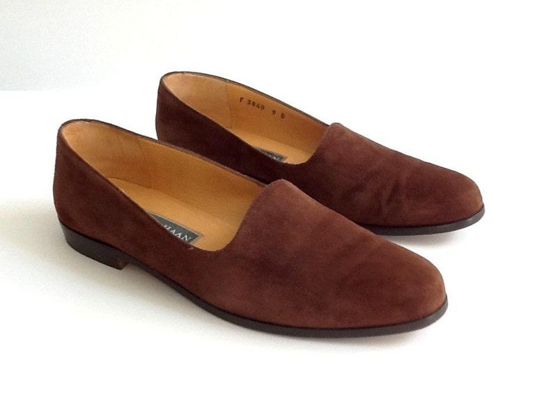 74e66ca68fb Vintage Cole Haan Brown Suede Shoes Women's Size 9B Slip | Etsy
