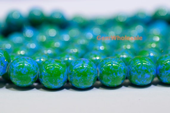 15 25 dyed blue mashan jade 12mm round beads blue color etsy