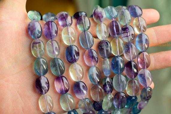 "Arco iris de Fluorita Natural Gemstone redonda con cuentas de 4 mm 6 mm 8 mm 10 mm 12 mm 14 mm 15.5/"""