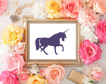 Unicorn Print - 8x10 Printable Art, Unicorn Decor, Unicorn Print, Wall Art, Unicorn, Unicorn Art Print, Unicorn Printable
