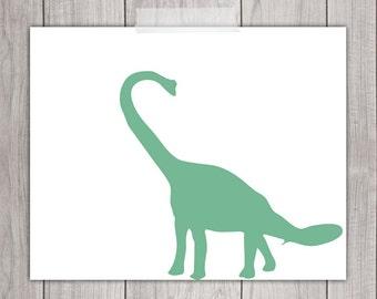 Dinosaur Art - 8x10 Boy Nursery Decor, Dinosaur Print, Dinosaur Printable, Dino Art, Dinosaur Decor, Dinosaur Art Print, Green