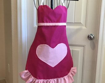 Sweetheart Pink Apron