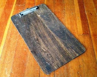 Handmade Rustic Barn Wood Clipboard