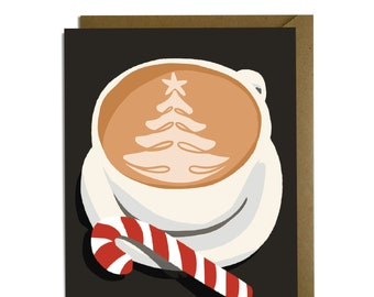 Christmas Latte - Sweet holiday card, coffee lover