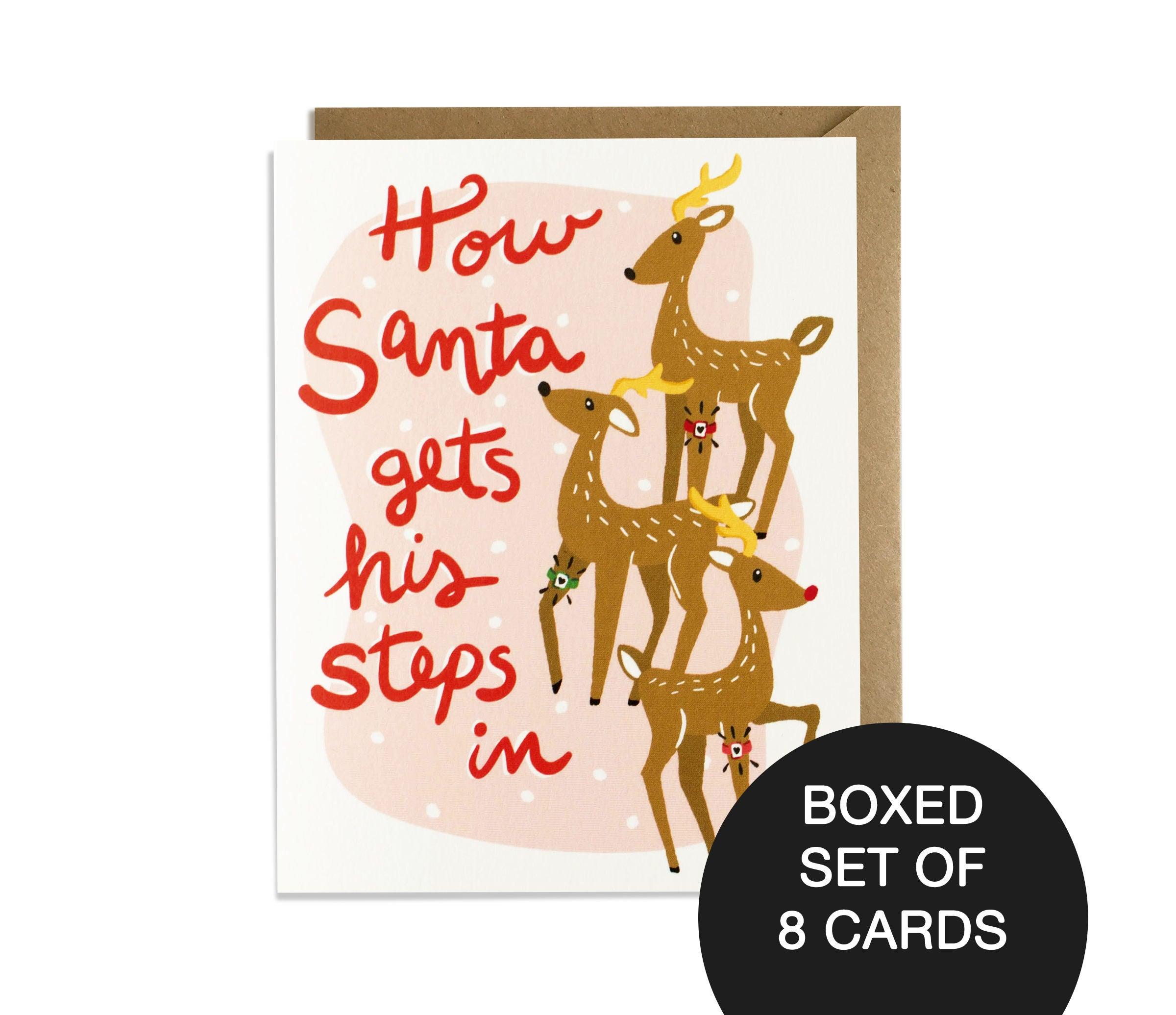 Funny Christmas Card Boxed Set Funny Holiday Card Santa   Etsy