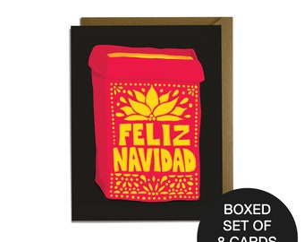 Feliz Navidad - Southwest Luminaria Christmas Card Boxed Set of 8