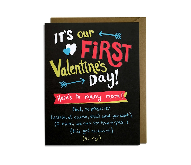 Funny Valentine Card  First Valentine's Day Card Love image 0