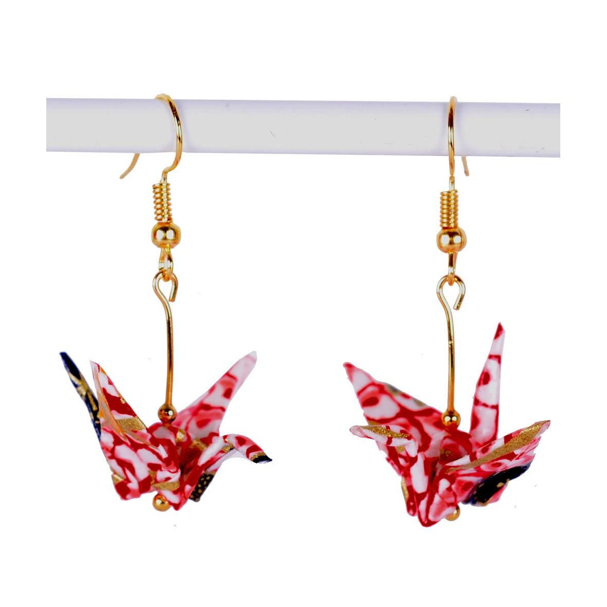 Origami Crane Earrings Japanese Origami Earrings Pair for ... - photo#8