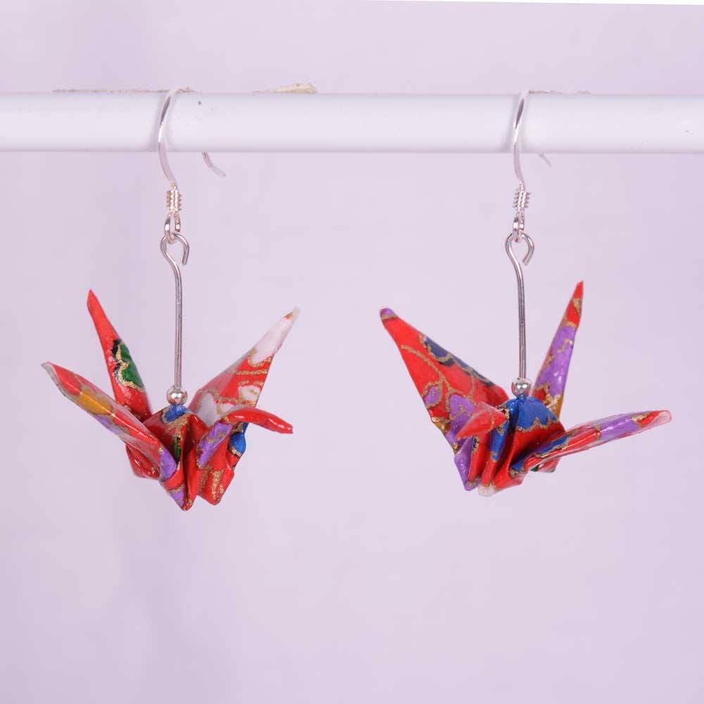 Origami Crane Earrings Japanese Origami Earrings Pair for ... - photo#20