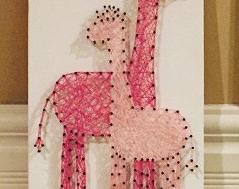 MADE TO ORDER Giraffe String Art Sign