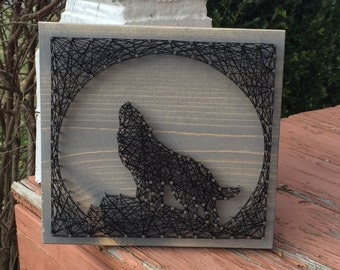 MADE TO ORDER Wolf String Art Sign