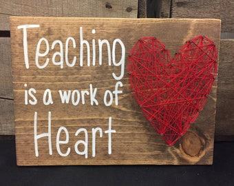 MADE TO ORDER Teaching or Nursing Appreciation String Art Sign