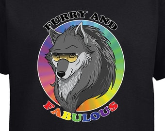 Furry and Fabulous Wolf T-shirt