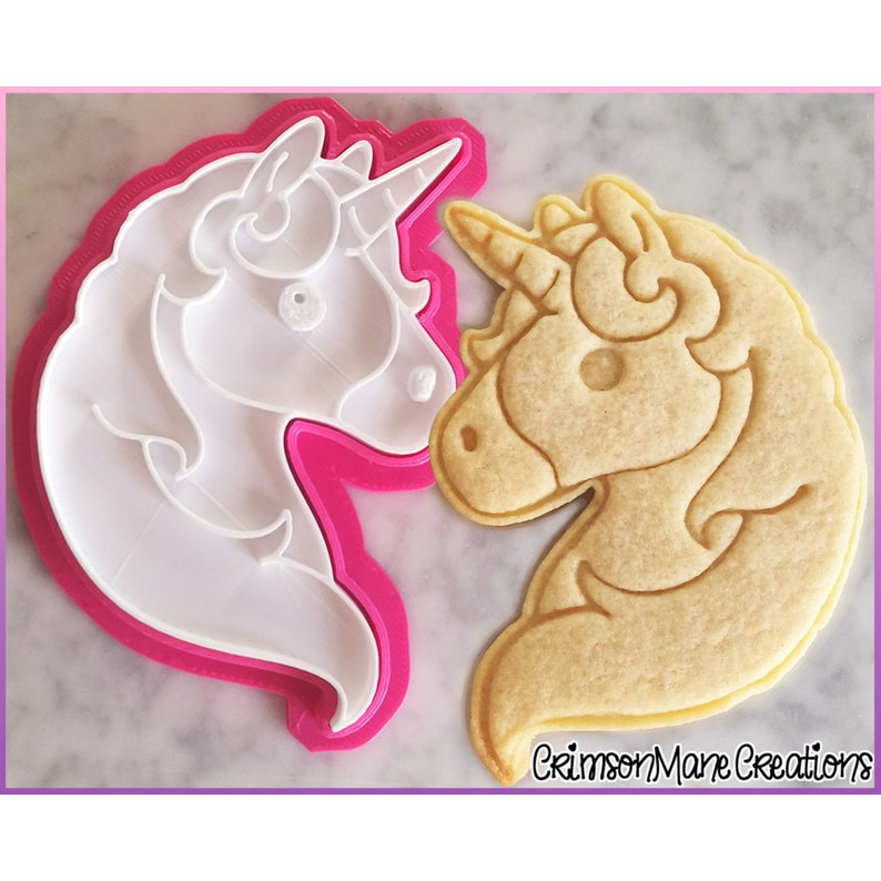Unicorn Cookie Cutter  Cute Kawaii  Unicorn Head  Emoji  image 0