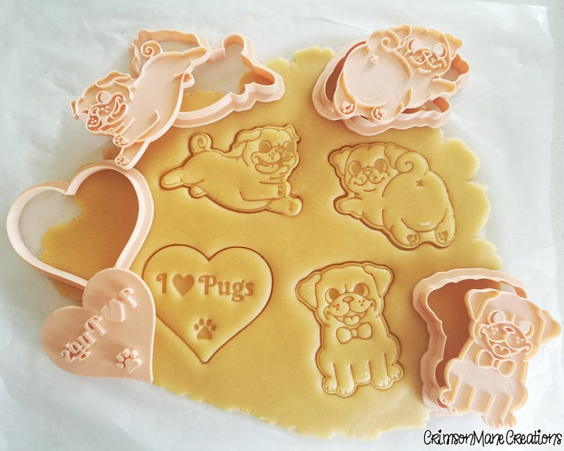 Pug cookie cutter