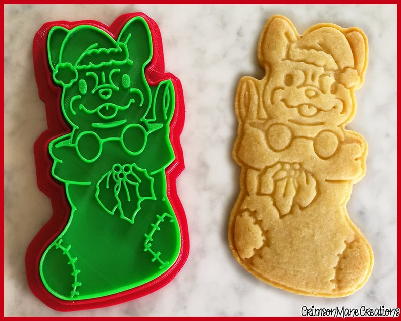 French Bulldog Stocking Christmas Cookie Cutter Cute Xmas Puppy Ceramics Pottery 3d Printed Fondant Tool Biscuit Baking Supplies