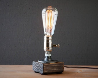 Edison Lamp Rustic Home Decor Steampunk Lamp Unique Table Lamp Industrial  Lighting